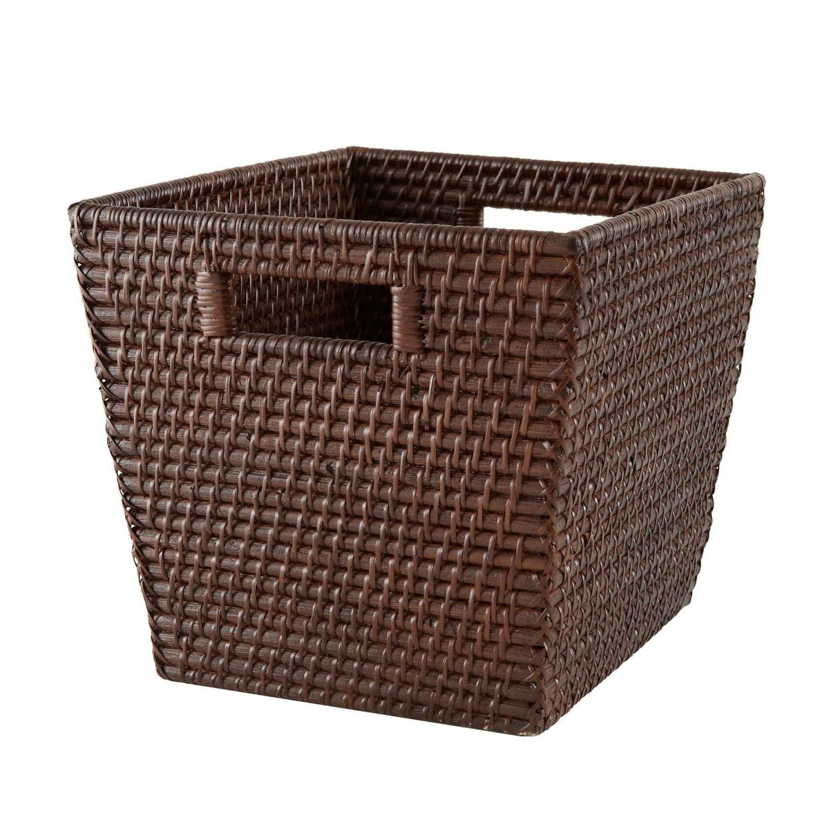 Wicker Basket Storage Cube : Doanket i